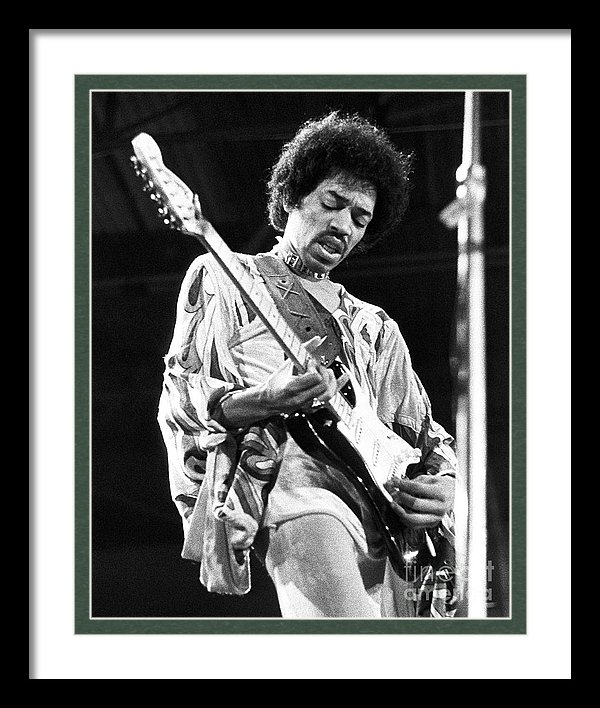Chris Walter - Jimi Hendrix Live 1970 Print