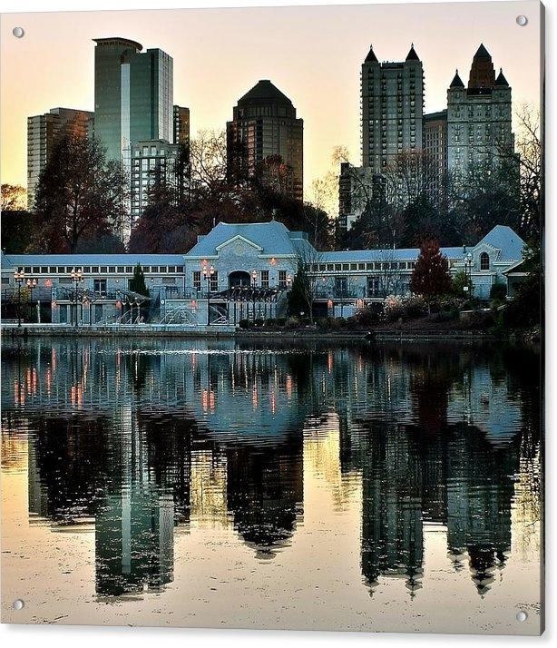 Frozen in Time Fine Art Photography - Atlanta over Piedmont Par... Print