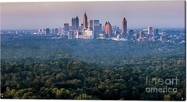 Doug Sturgess - Atlanta Skyline Print