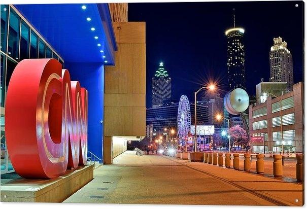 Frozen in Time Fine Art Photography - Atlanta Outside CNN Print