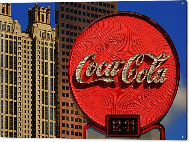 Daniel Woodrum - Coca Cola Neon Sign Atlan... Print