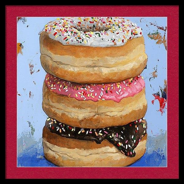 David Palmer - 3 Donuts #2 Print
