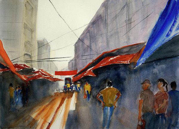 Tom Simmons - Bangkok Street Market2 Print