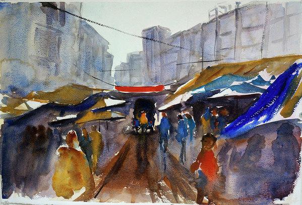 Tom Simmons - Bangkok Street Market Print