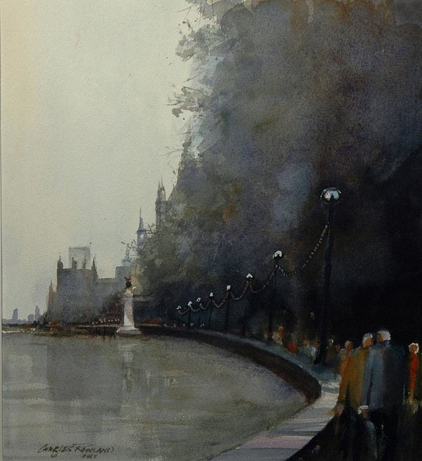Charles Rowland - Along the Thames Print