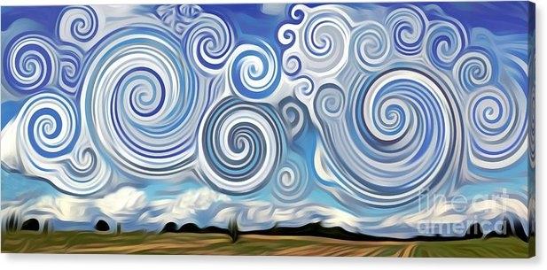 Lisa Arbitrary - Surreal Cloud Blue Print