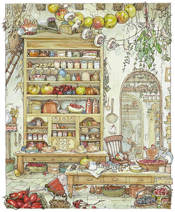 Brambly Hedge - The Palace Kitchen Print