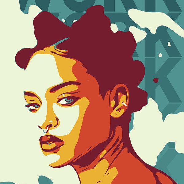 Yeliz Atik - Rihanna Print