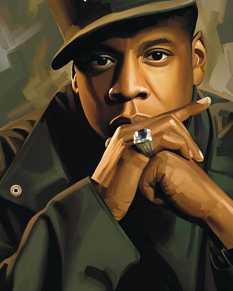 Sheraz A - Jay-Z Artwork 2 Print