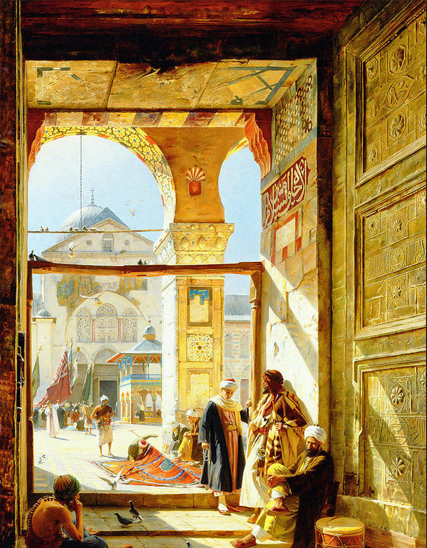 Gustav Bauernfeind -  Gate of the Great Mosque... Print