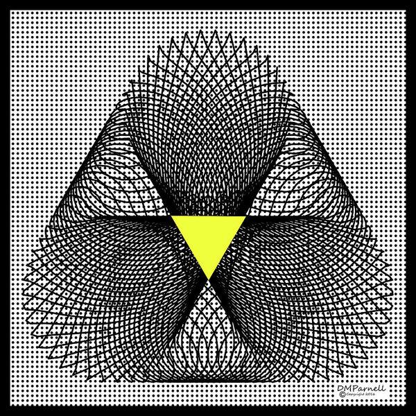 Diane Parnell - Grid Plus Triangle Print