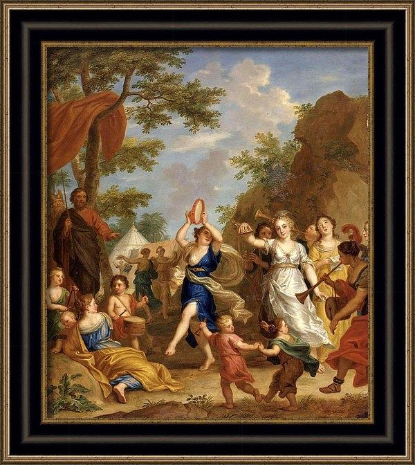 Balthasar Beschey - Miriam and the Women of I... Print