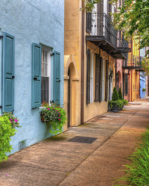 Douglas Berry - Rainbow Row - Charleston ... Print