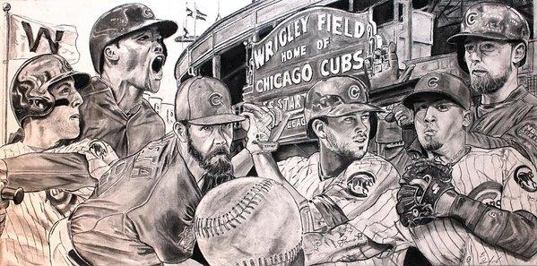 Brian Sanford - Cubs World Series Print