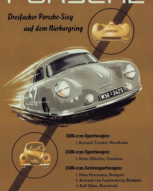 Georgia Fowler - Porsche Nurburgring 1950s... Print