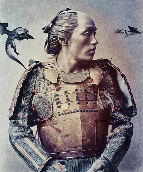 Susan Maxwell Schmidt - The Samurai and the Drago... Print