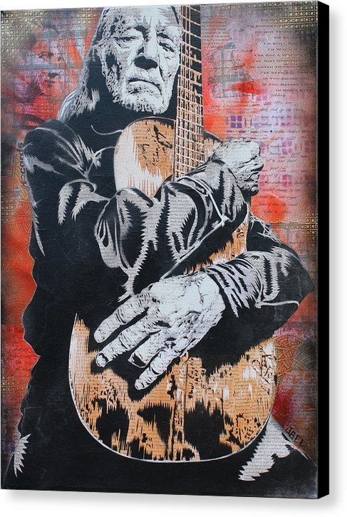 Josh Cardinali - Willie Nelson and Trigger Print