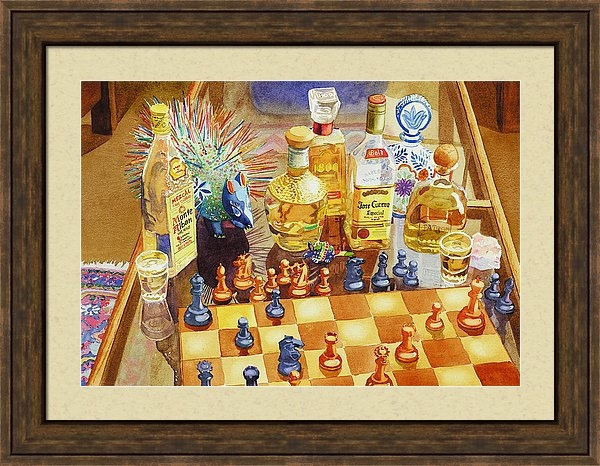 Mary Helmreich - Chess and Tequila Print