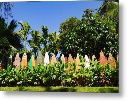 Paulette B Wright - Surfboard Fence - Left Si... Print