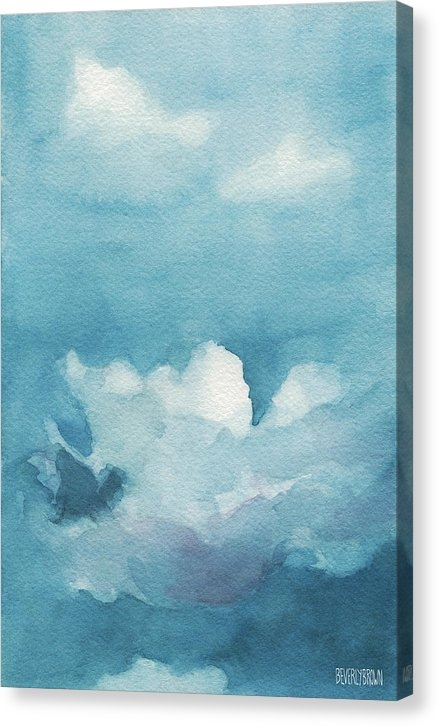Beverly Brown - Blue Sky White Clouds Wat... Print