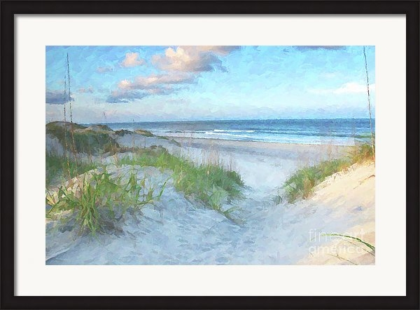 Randy Steele - On The Beach Watercolor Print