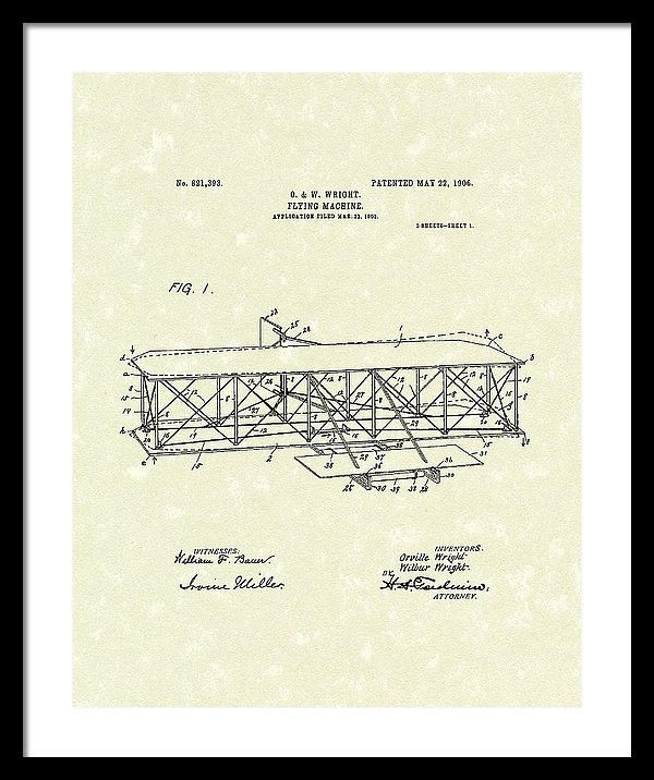 Prior Art Design - Wright  Brothers Flying M... Print