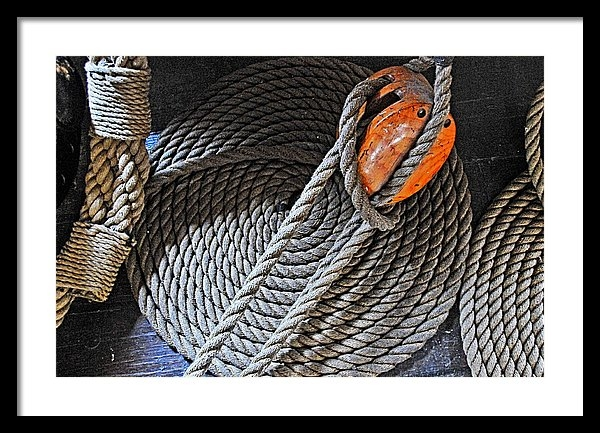 Mike Martin - Old Ironsides Rope Print