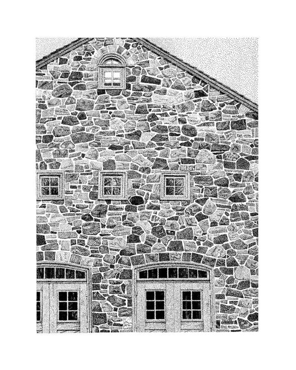 Philip LeVee - The Stone House Print