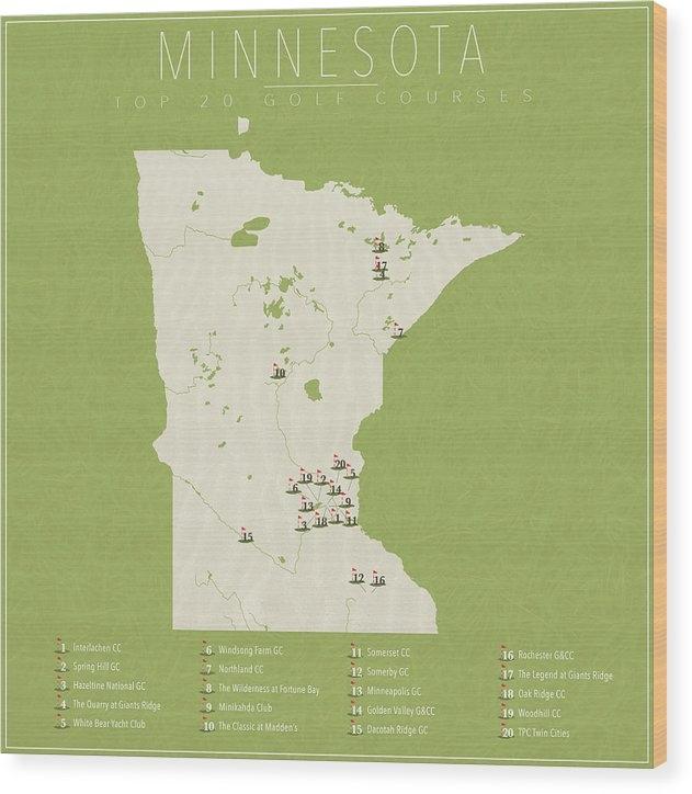 Finlay McNevin - Minnesota Golf Courses Print