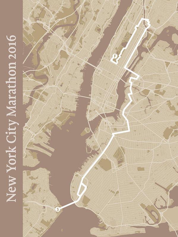 Big City Artwork - New York City Marathon #1 Print