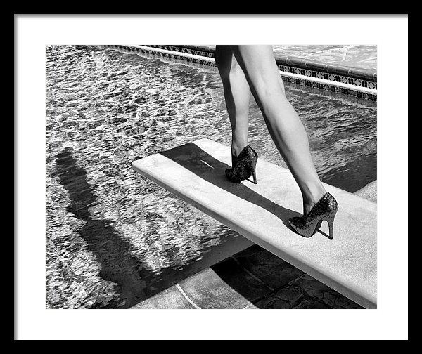 William Dey - RUBY HEELS BW Palm Spring... Print