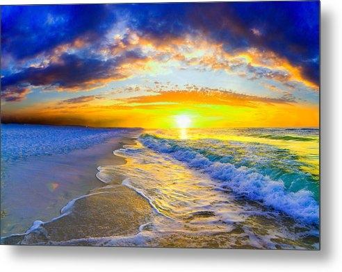 Eszra Tanner - Sunrise On Ocean Waves Be... Print