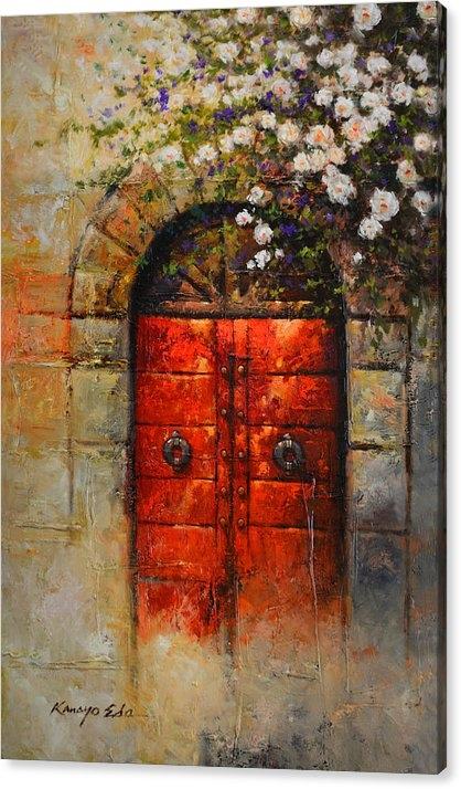 Kanayo Ede - Italian Red Door from Tus... Print