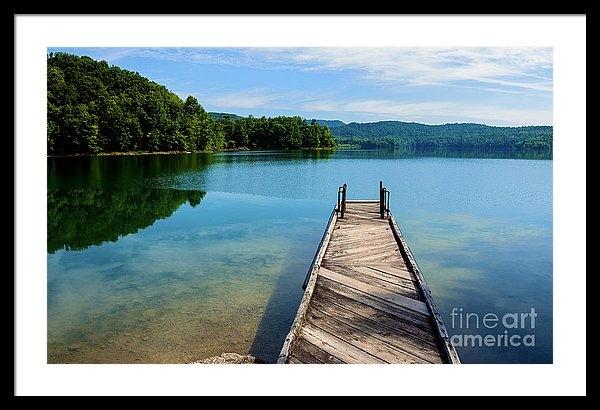 Thomas R Fletcher - Dock on Summersville Lake Print