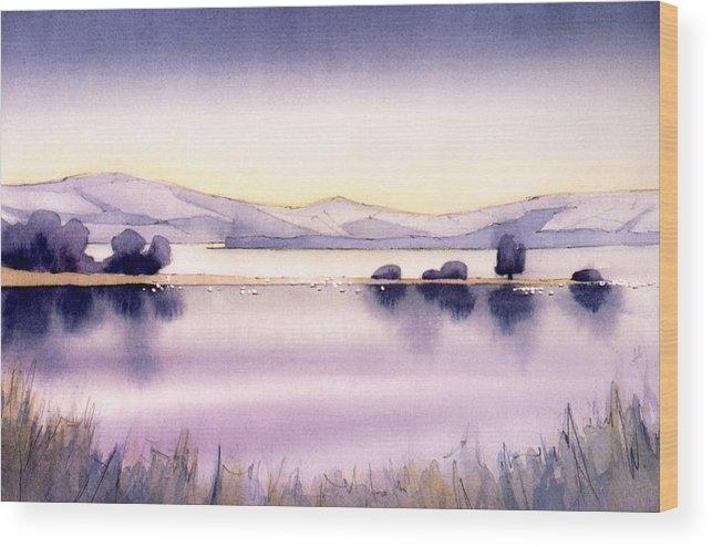 Lynette Carrington-Smith - Swans at Chew Valley Lake... Print