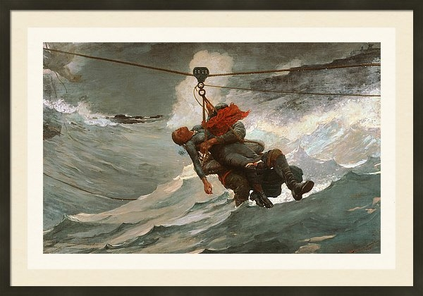 Winslow Homer - The Life Line Print