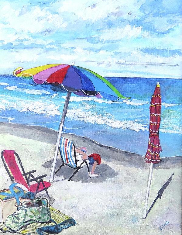 Zena Altman - At the Beach Print