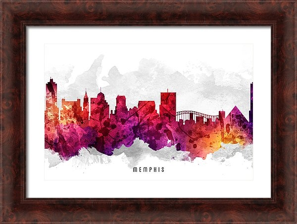 Aged Pixel - Memphis Tennessee Citysca... Print