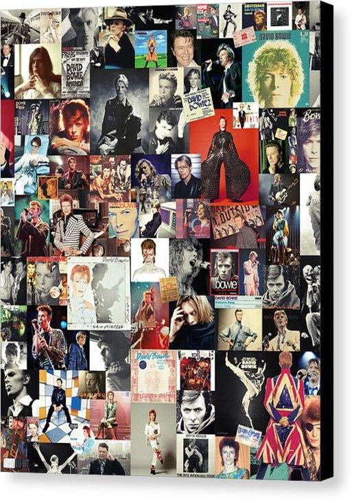 Taylan Apukovska - David Bowie Collage Print