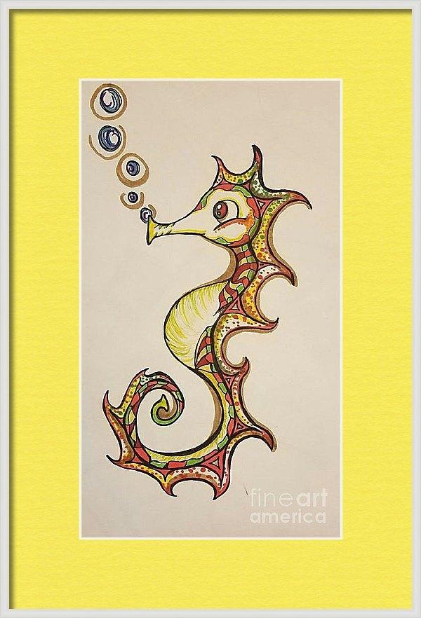 Alexis Rockway - Seahorse of Course Print