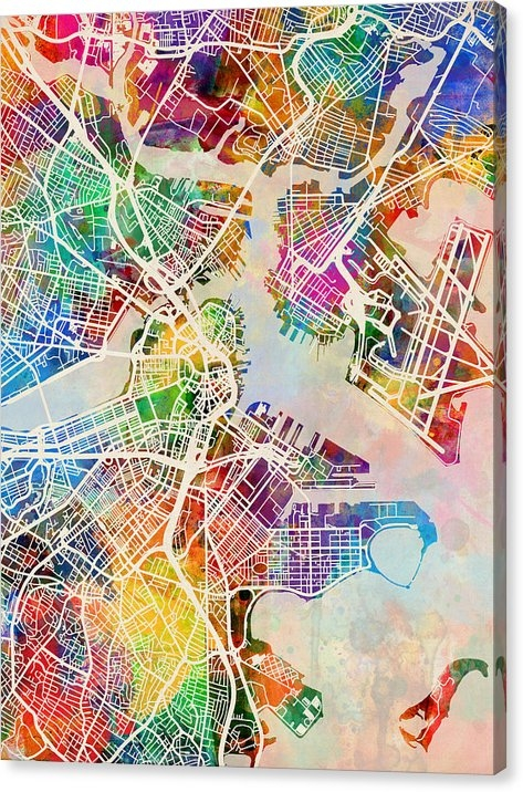 Michael Tompsett - Boston Massachusetts Stre... Print