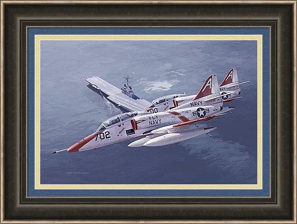 Rick Blyseth - Fly Navy Print