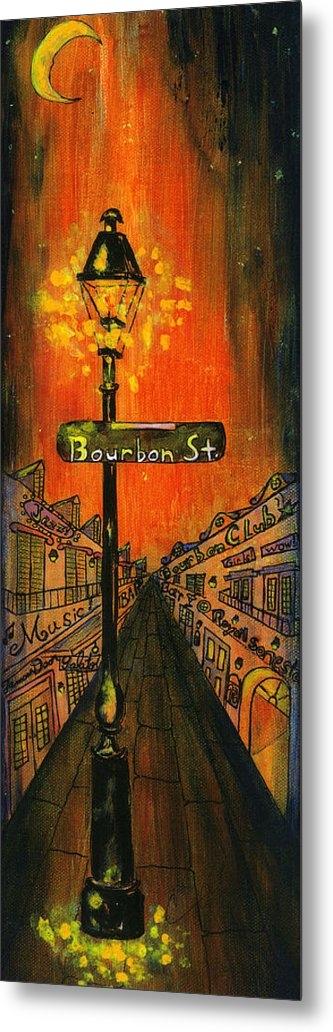 Catherine Wilson - Bourbon Street lamp post Print