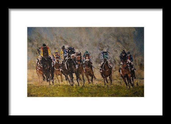 Erna Goudbeek - Racehorses in Bahrain Print