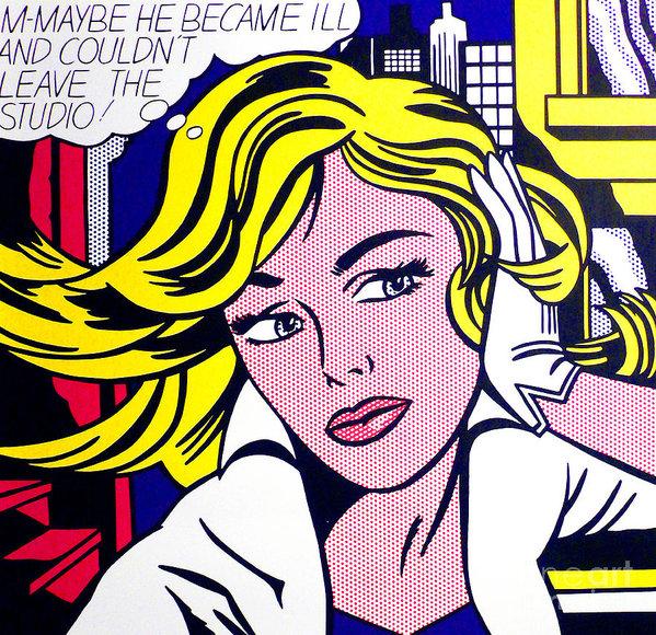 Roy Lichtenstein - M-Maybe Print