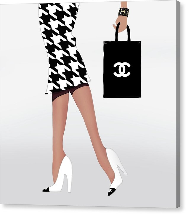 Tres Chic - Houndstooth couture  Print