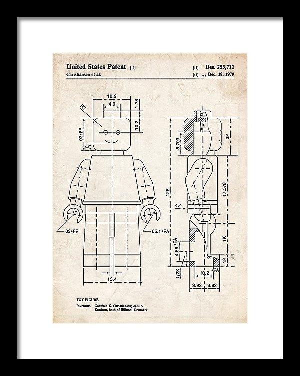 Stephen Chambers - Lego Minifigure Patent Ar... Print