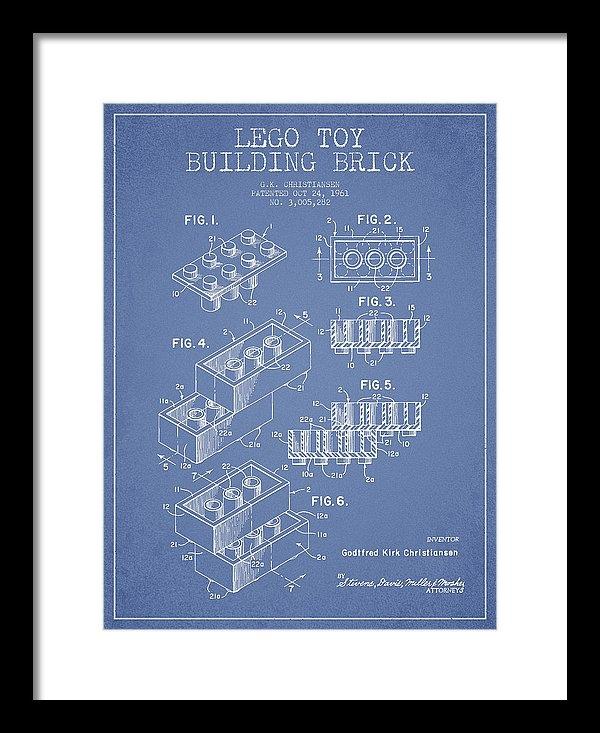 Aged Pixel - Lego Toy Building Brick P... Print