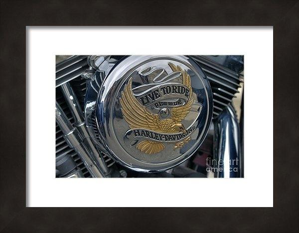 David Bearden - Live to ride... Print