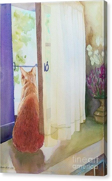 Barbara Oertli - Muffin at Window Print